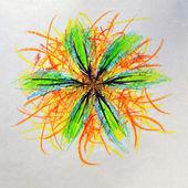 Abstract flower illustration — Stock Photo