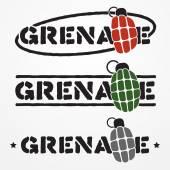 Grenade logo — Vector de stock