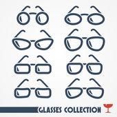 Gafas de iconos — Vector de stock