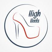 High heels logo — Vecteur