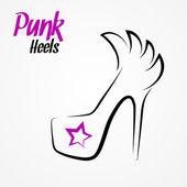 High heels logo — Stock Vector
