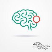 Brain logo — Stock Vector