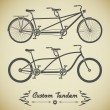 Tandem bicycle — Stock Vector #62337529