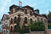 House of beige brick. — Stock Photo
