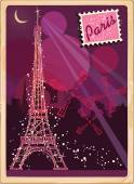 Vintage card of Paris — Stock Vector
