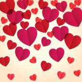 Greeting card with hearts — Vettoriale Stock