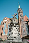 Statue of John of Nepomuk in Wroclaw — Stock Photo