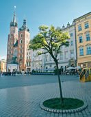 Market Square in Krakow — Stock Photo