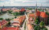 Old Wroclaw cityscape, Poland — Stok fotoğraf