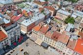 Air view on the market square in Lviv City — Stock Photo