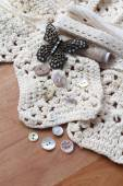 Neutral shades craft collection — Stock Photo