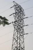 Electrical Tower and cables in the morning — Foto de Stock