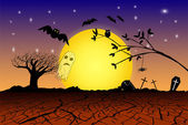 Doodle Halloween Background — Stock Photo