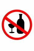 Simple Sign No Drunk, isolated on white — Stock Photo
