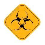 Grunge Radiation hazard symbol sign — Stock Photo #69940675