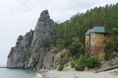 Recreation center. Baikal Lake, Sandy Bay, Cape Small Bell — Stock Photo