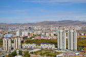 View of Ulaanbaatar from the height of the memorial complex on the outskirts of the city — Stock Photo