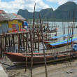 Housing on piles. Sea Gypsy Village Koh Panyee in the Andaman Sea, Thailand — Stock Photo #64100849