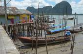 Housing on piles. Sea Gypsy Village Koh Panyee in the Andaman Sea, Thailand — Fotografia Stock