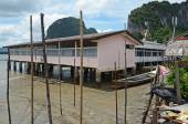 School on stilts in Koh Panyee Floating Village in the Andaman Sea, Thailand — Stock Photo