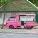 Thai tuk-tuk taxi in Phuket — Stock Photo #64362587