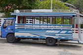 Phuket, Thailand-Sept,26 2014: City bus in Thailand. Phuket — Foto de Stock