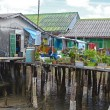 Housing on piles. Sea Gypsy Village Koh Panyee in the Andaman Sea, Thailand — Stock Photo #65646501