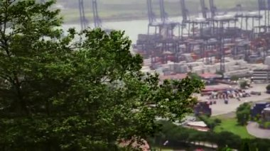 9of19 Panama city harbor, port, dock, cargo, containers, ship, sea — Stock Video
