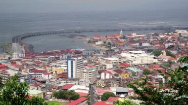 Panama City, Casco Antiguo, Old Quarter, Avenida Balboa — Stock Video