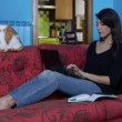 Woman Working With Laptop Pc And Mobile Phone At Home — Stock Video #60656885