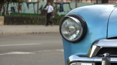 Cuba La Habana Havana Closeup Of Vintage Car Hood 4K — Stock Video