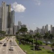 Panama City View of Avenida Balboa Cinta Costera And Skyline 4K — Stock Video #62484201