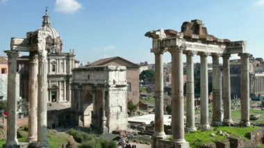 Forum Rome Roma Italy Italia Monument Art Tourism Travel Architecture — Stock Video