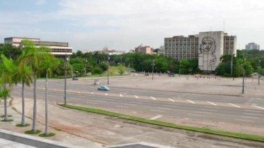 Plaza De La Revolucion Square In Havana Cuba — Stock Video