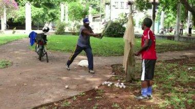 Seniors Training For Baseball In Havana Cuba — Stock Video