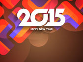 Beautiful greeting card design for happy new year 2015. — Vector de stock
