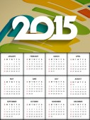 Happy new year 2015 calendar design. — Stock Vector