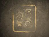 Grunge texture happy new year 2015 background design. — Stock Vector