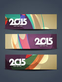 Header design for happy new year 2015 — Stock Vector