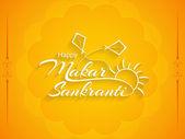 Elegant background design of Makar Sankranti. — Stockvektor