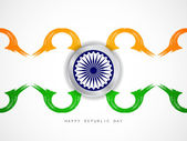 Creative Indian flag theme design background — Stockvector