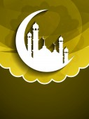 Elegant Eid Mubarak background design. — Stock Vector