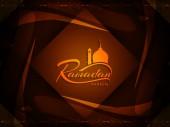 Bello disegno della priorità bassa di Ramadan Kareem. — Vettoriale Stock