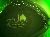 Religious Ramadan Kareem background design. — Stock Vector