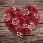 Heart of paper quilling for Valentine's day — Stock Photo