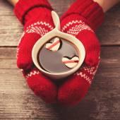 Koffie met hart — Stockfoto