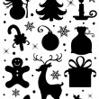 Christmas icons. — Stock Vector #53665369