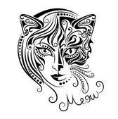 Cat woman. — Stock Vector
