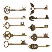 Old brass keys — Stock Photo