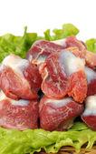 Chicken gizzard heap — Stock Photo